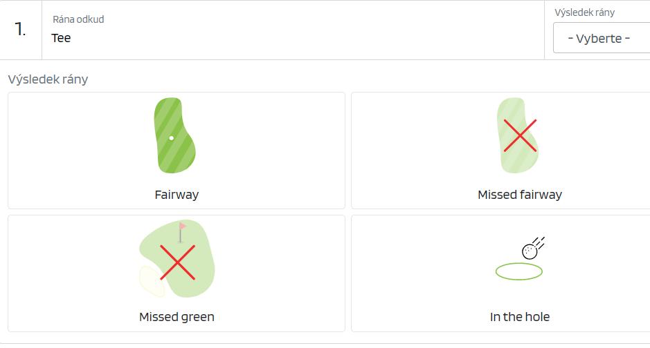 Jak zadávat statistiky golfové hry{lang}{lang}{lang}Jak zadávat statistiky golfové hry